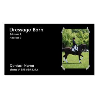Tarjeta de visita del caballo del Dressage