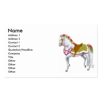 Tarjeta de visita del caballo del Rose Parade