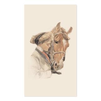 Tarjeta de visita del caballo y de señora Gorgeous