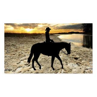 Tarjeta de visita del caballo y del jinete