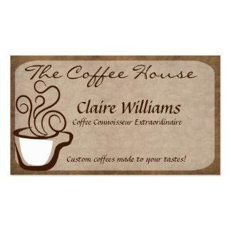 Tarjeta de visita del café