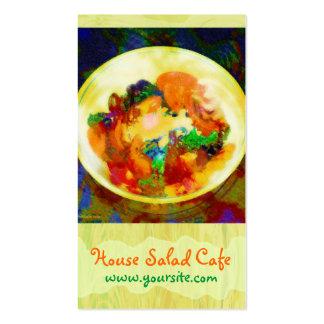 Tarjeta de visita del café de la ensalada de casa