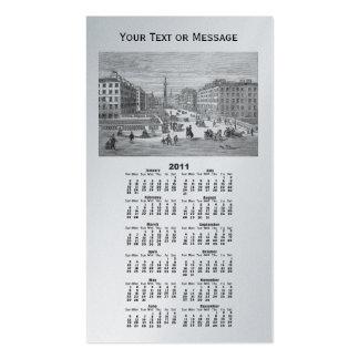 Tarjeta de visita del calendario de la señal de