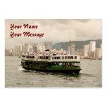 Tarjeta de visita del calendario del transbordador
