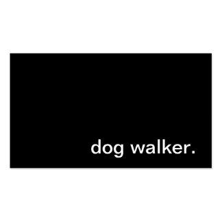 Tarjeta de visita del caminante del perro