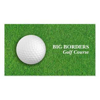 Tarjeta de visita del campo de golf