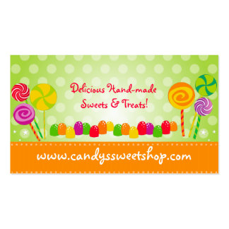 Tarjeta de visita del caramelo