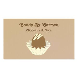 Tarjeta de visita del caramelo - chocolate