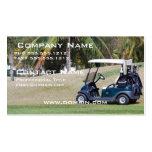 Tarjeta de visita del carro de golf
