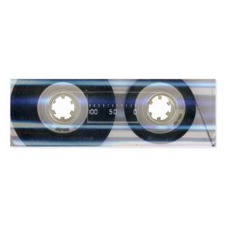 Tarjeta de visita del casete de cinta