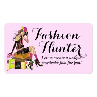 Tarjeta de visita del cazador de la moda