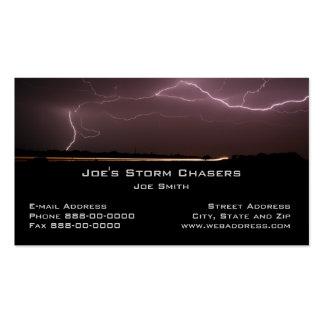 Tarjeta de visita del cazador de la tormenta