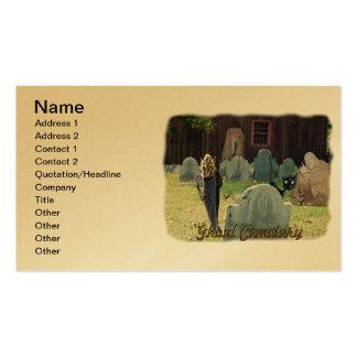 Tarjeta de visita del cementerio del espíritu necr