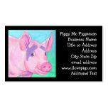Tarjeta de visita del cerdo