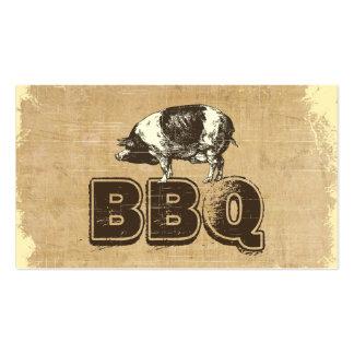 Tarjeta de visita del cerdo del Bbq del vintage