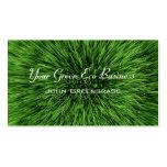 Tarjeta de visita del césped de la hierba verde