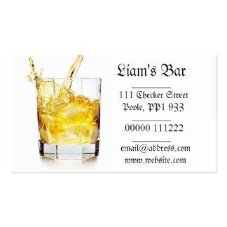 Tarjeta de visita del chapoteo del whisky