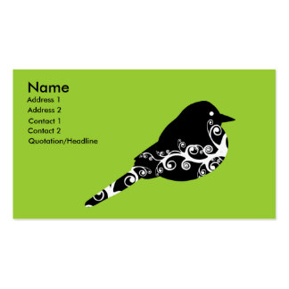 tarjeta de visita del chirrido