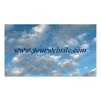 Tarjeta de visita del cielo azul