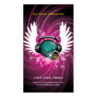 Tarjeta de visita del cielo de la música de DJ