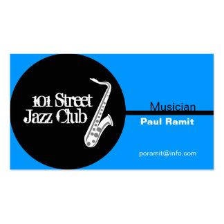 Tarjeta de visita del club de jazz del músico