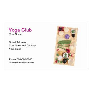 Tarjeta de visita del club de la yoga