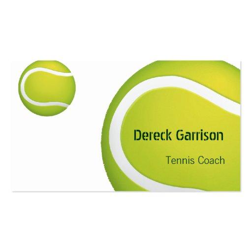 Tarjeta de visita del coche de tenis