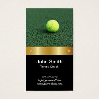 Tarjeta de visita del coche de tenis de la correa