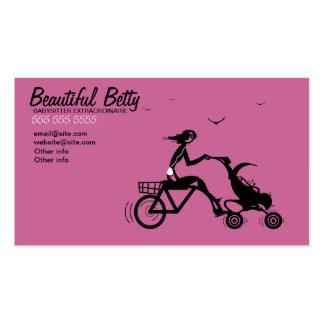 Tarjeta de visita del cochecito de bebé de la bici