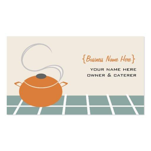 Tarjeta de visita del cocinero/del abastecedor -