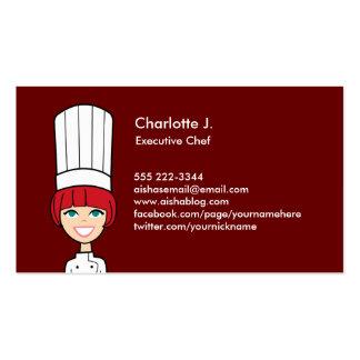 Tarjeta de visita del cocinero - versión del Redhe