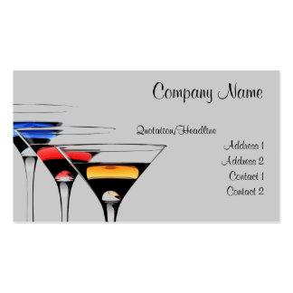 Tarjeta de visita del cóctel