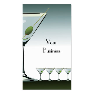 Tarjeta de visita del cóctel de Martini