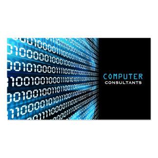 Tarjeta de visita del código binario