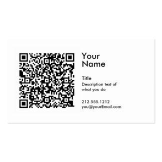 Tarjeta de visita del código de QR