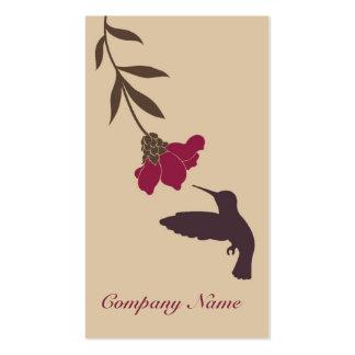 Tarjeta de visita del colibrí (crema)