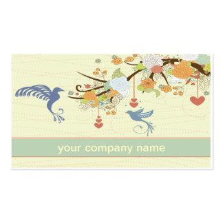 tarjeta de visita del colibrí del vintage