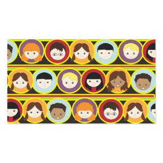 Tarjeta de visita del collage de muchos niños que
