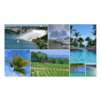 Tarjeta de visita del collage del agente de viajes