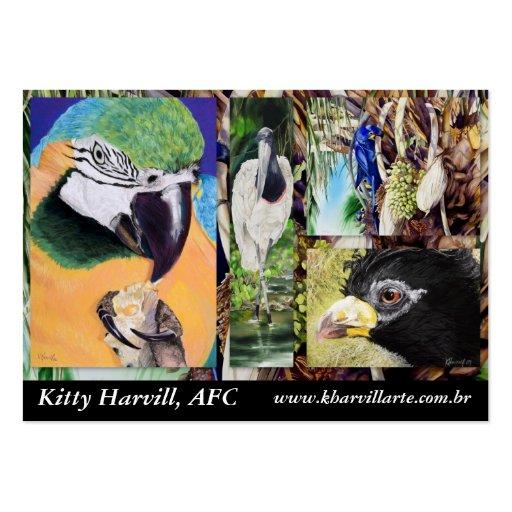 Tarjeta de visita del collage del pájaro