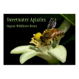 Tarjeta de visita del colmenar de la abeja de la m