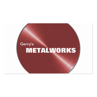 Tarjeta de visita del comercio del metal del mecán