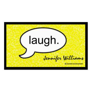 Tarjeta de visita del cómico de la risa de la nube