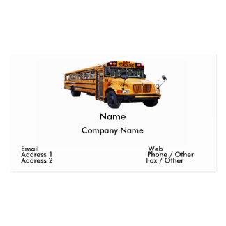 Tarjeta de visita del conductor del autobús