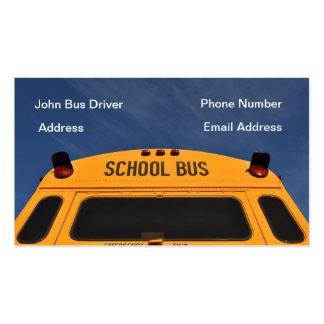 Tarjeta de visita del conductor del autobús escola