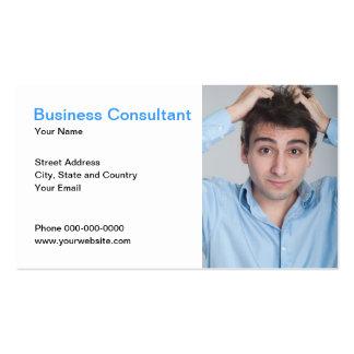 Tarjeta de visita del consultor de negocio