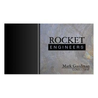 Tarjeta de visita del consultor del ingeniero - te