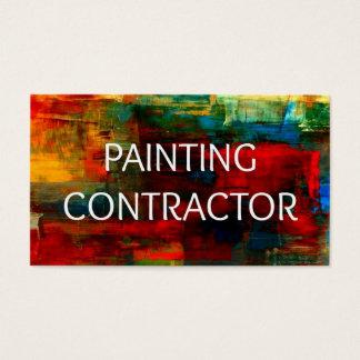 Tarjeta de visita del contratista de la pintura