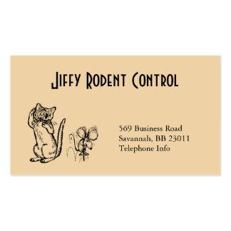 Tarjeta de visita del control del roedor y de