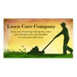 tarjeta de visita del corte de la hierba del cuida